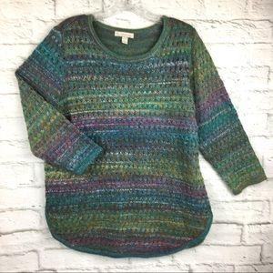 Dressbarn large women's sweater lace knit front